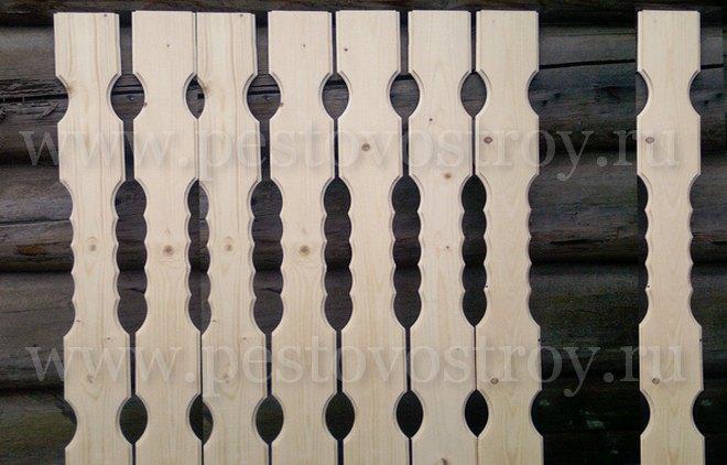 Перила, поручни и балясины, столбы, колонны деревянные от