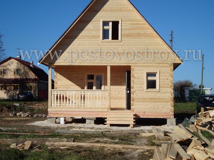 Дачный брусовой домик